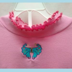 Hsnna Andersson Pink Butterfly Shirt Top 150/ 12